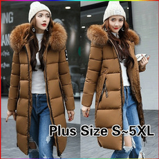 Down Jacket, Plus Size, fur, waddedjacket