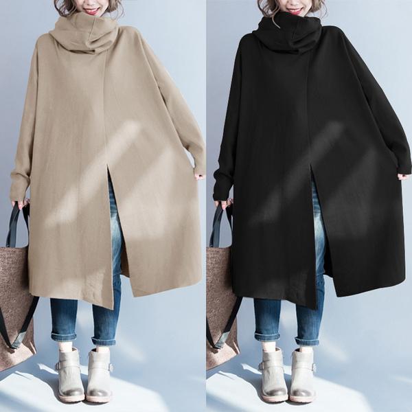 Plus Size, Long Sleeve, pullovercoat, cloak
