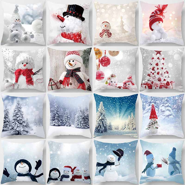 Christmas, Bed Pillows, Sofas, Cover