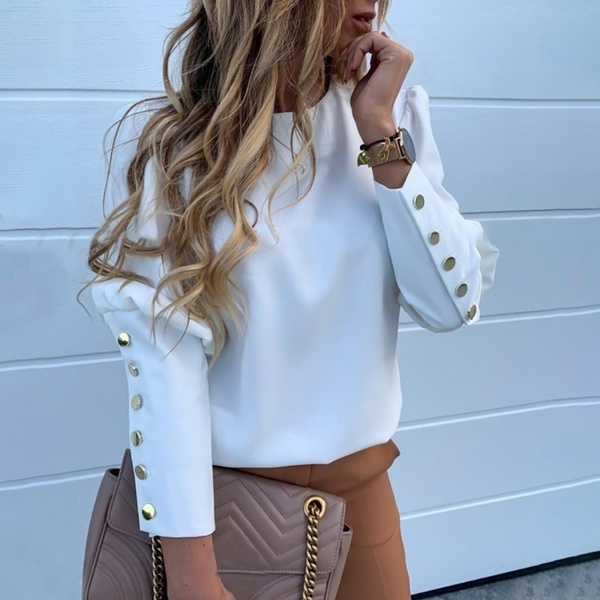 blouse, blouse women, Tops & Blouses, Long sleeve top