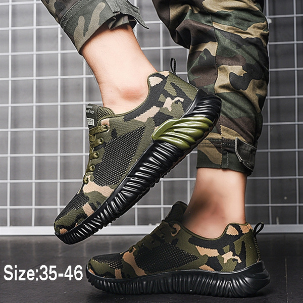 Camouflage Running Shoes Breathable