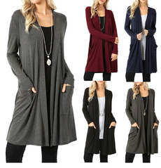 Casual Jackets, cardigan, Coat, Women