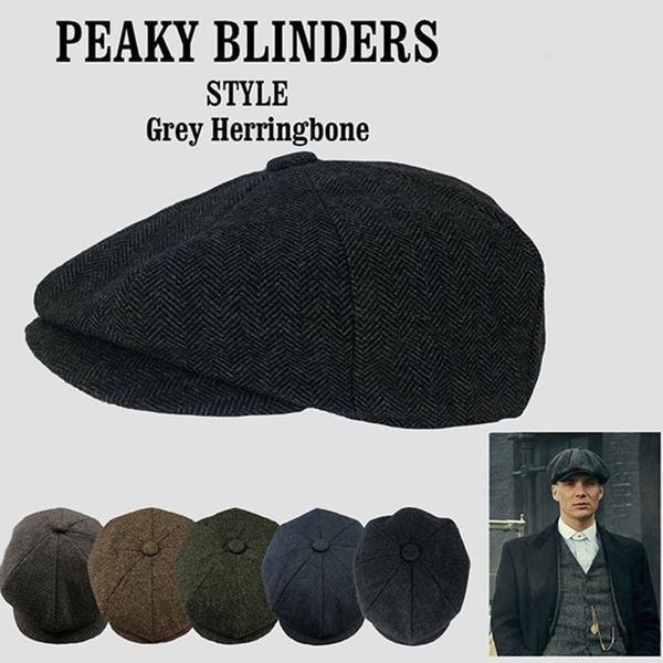 6 Color Retro Mens Wool Caps Peaky Blinders Hat Men's Newsboy Cap Gastby  Wool Blend Herringbone Tweed Winter Hat Warm | Wish