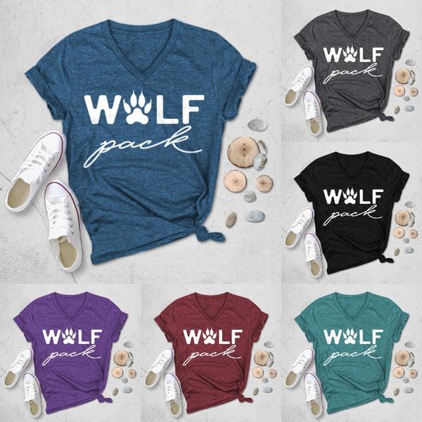 Summer, Plus Size, Cotton T Shirt, letter print