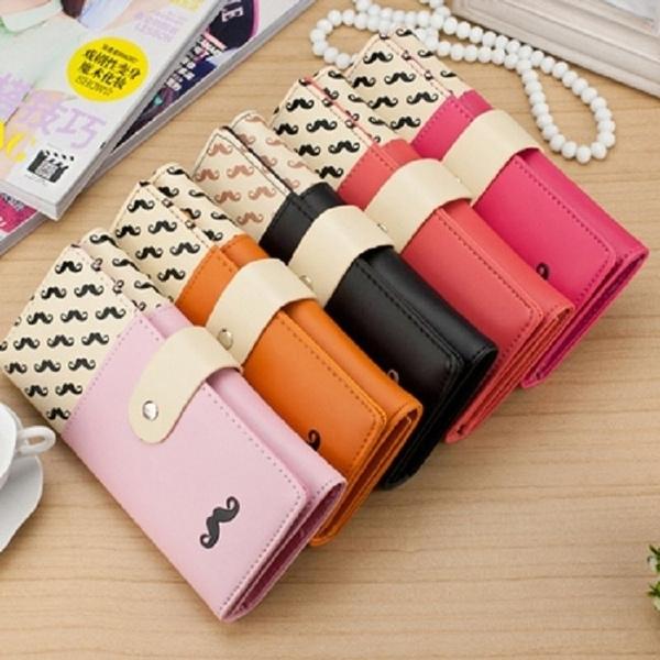 case, Wallet, korean style, moustache