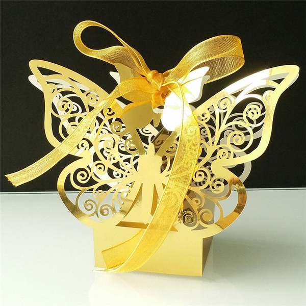 butterfly, Box, Laser, Gifts