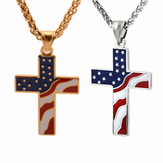 Stainless Steel, Christian, Cross Pendant, religiousnecklace