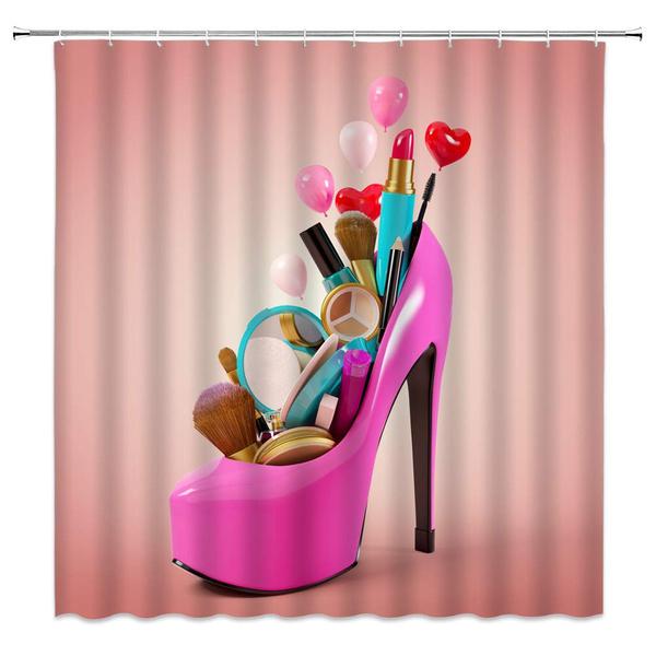 Y Woman Bathroom Decor Bath Curtains