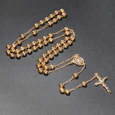 virginmarynecklace, jesus, Cross Pendant, gold
