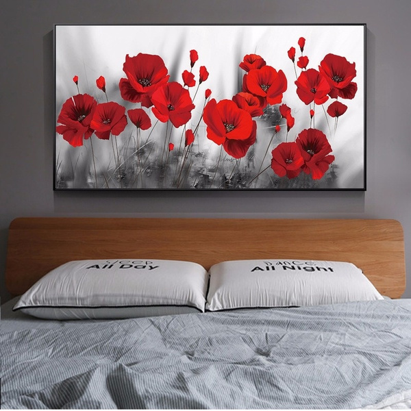 Flowers, Wall Art, Home Decor, poppie