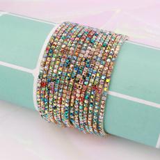 Charm Bracelet, Cubic Zirconia, Bling, Jewelry