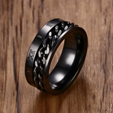 Steel, 8MM, wedding ring, gold