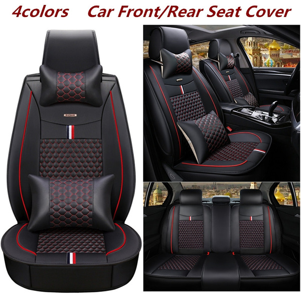 4 Colors Universal Car Pu Leather Seat, Football Car Seat Covers