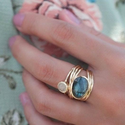 Blues, moonstonering, wedding ring, gold