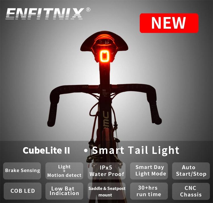 Bicycle Bike Rear Tail Lights Bcak Intelligent Sensor Brake USB Xlite100 MTB KE