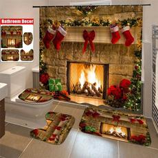 bathroomrugset, bathroomdecor, Christmas, pedestalrug