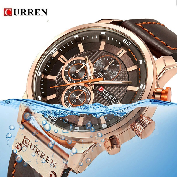 Fashion, Casual Watches, gold, Waterproof