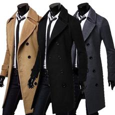 woolen coat, Fashion, longsectioncoat, winter coat