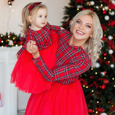 tutudre, plaid, Plaid Dress, Family