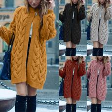 Women Sweater, sweatercardigan, sweater coat, Long Sleeve