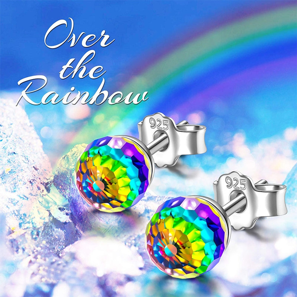 rainbow, 925 sterling silver, Jewelry, Gifts