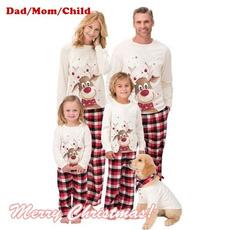 Christmas, Family, Deer, pijama