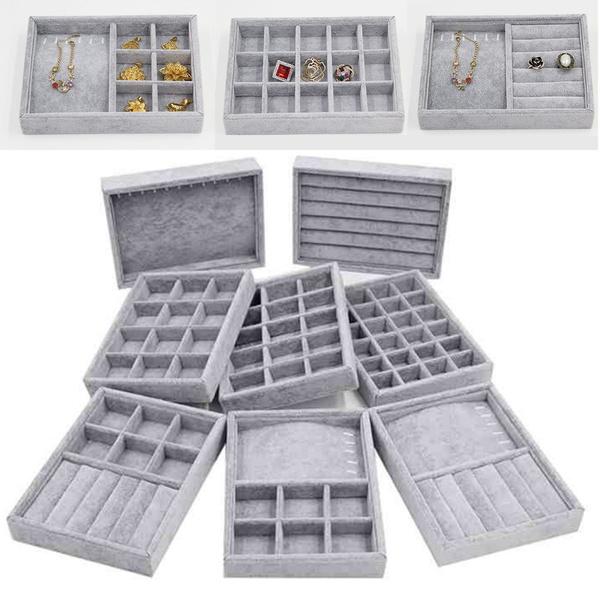 Box, velvet, Jewelry, Jewelry Organizer