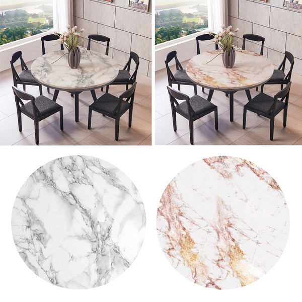 2 Pcs Round Table Cover Elastic Edged 1, Round Table Cover With Elastic
