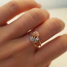 roseflowerring, Sterling, 925 sterling silver, wedding ring