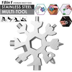 Steel, snowflakemultitool, Key Chain, wrenchadapter