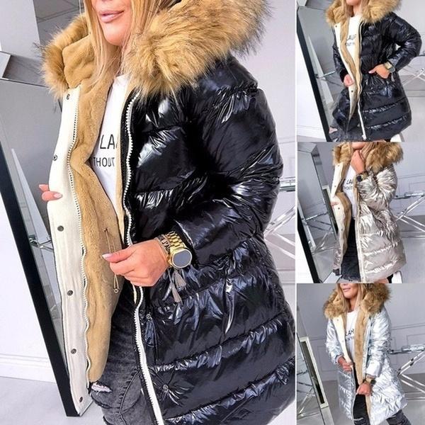 Plus Size, fur, windproofoutwear, Long Coat