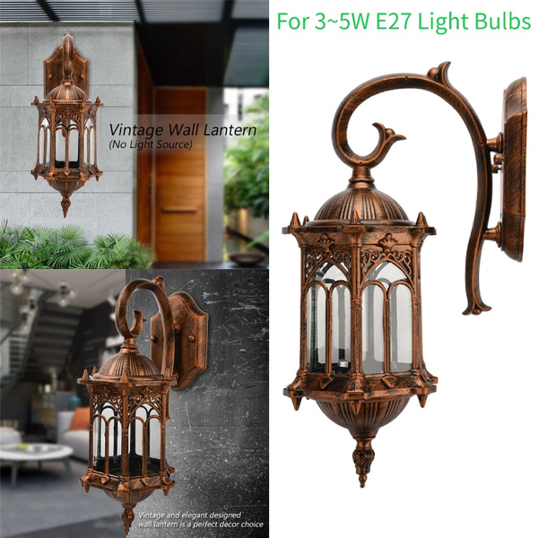 Vintage Outdoor Wall Porch Patio Light Exterior Lighting Lamp Lantern Fixture Wish