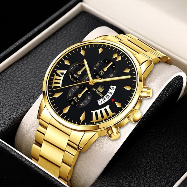 Fashion, Waterproof Watch, gold, Classics