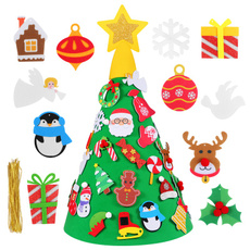 party, Tree, christmaspuzzletree, feltchristmastree