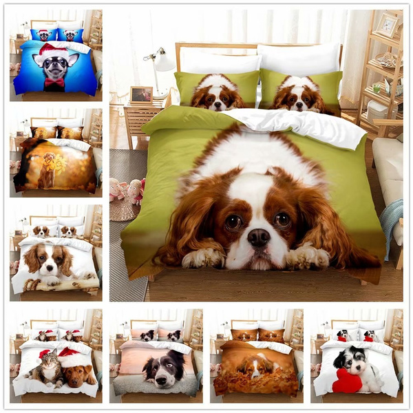 dogpillowcase, cute, duvetcoverbeddingquiltcover, Pets