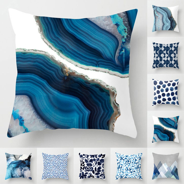 Blues, Throw Pillow case, Polyester, peach