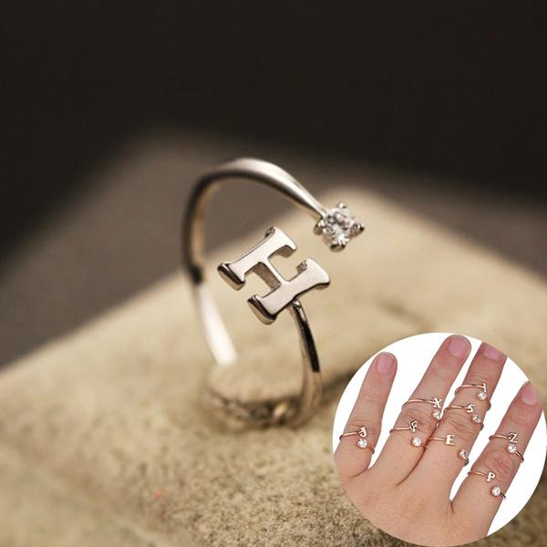 Sterling, 26letterring, DIAMOND, wedding ring