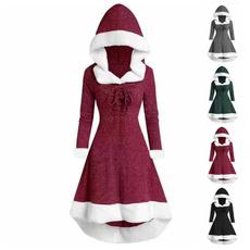 slim dress, Fleece, Fashion, hooded
