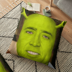 nicolascageshrek, 4throwpillowcover, 2throwpillowcoversfall, throwpillowcoverhalloween