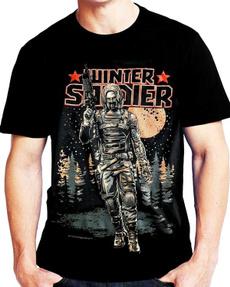 thewintersoldier, mensfashionloosetshirt, menonecktshirt, Winter