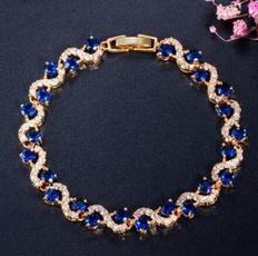 Charm Bracelet, Cubic Zirconia, gold, amethystbracelet