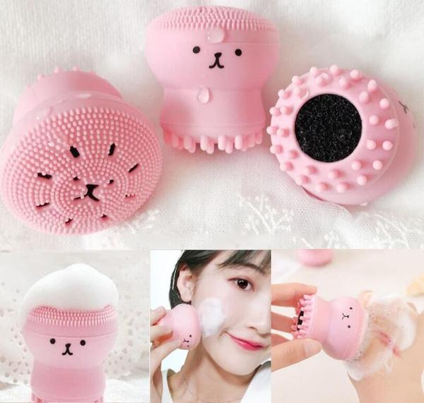 makeupbrushesamptool, facecleanser, Beauty, octopusfacialbrush