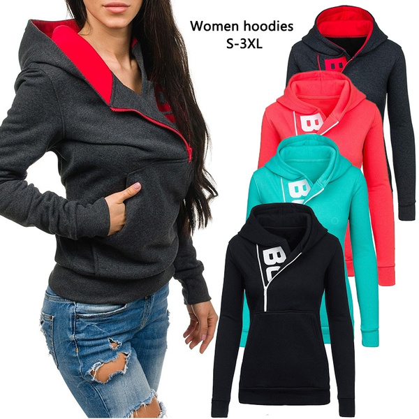 women pullover, Casual Hoodie, Fashion, Long Sleeve