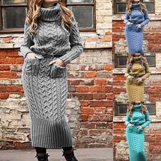 autumnwinter, knitsweaterdre, Fashion, Long Sleeve