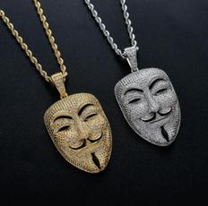 vforvendetta, Party Necklace, Head, necklaces for men