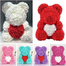 teddyrosebear, Heart, Flowers, Christmas