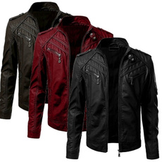 Casual Jackets, Slim Fit, Winter, Sleeve