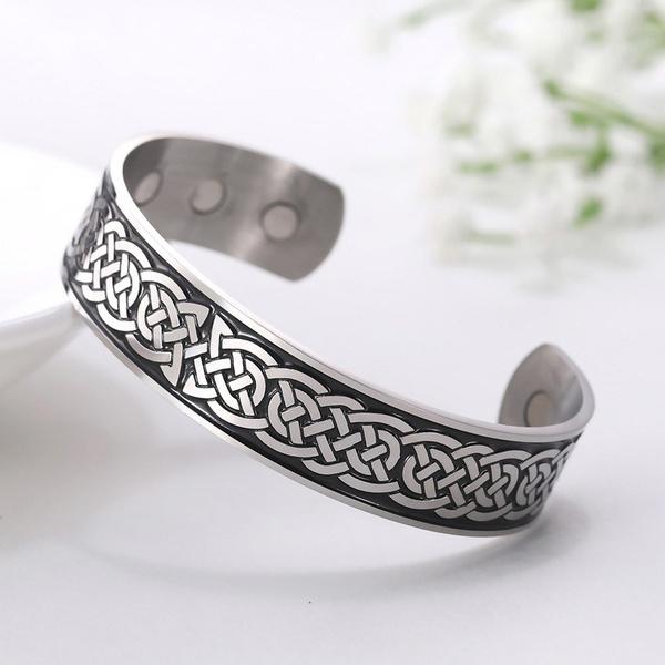 Celtic, magneticbangle, celticknotbracelet, Jewelry
