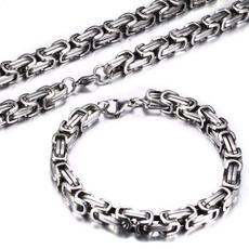 Charm Bracelet, Heavy, Chain Necklace, necklaces for men
