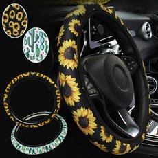 cactu, Elastic, Sunflowers, steeringwheelwrap